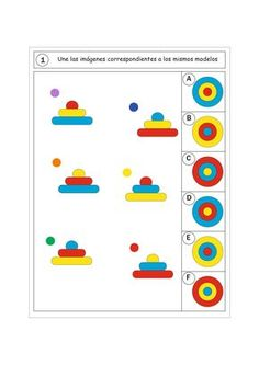 Preschool Centers, Preschool Worksheets, Preschool Activities, Infant Activities, Learning Activities, Visual Perception Activities, Math Patterns, Logic Games, Math For Kids