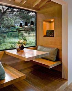 modern breakfast nook.