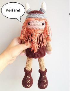 Viking Amigurumi Pattern, Viking Crochet Pattern, Crochet Viking, Norse Amigurumi Pattern by MarigurumiShop on Etsy https://www.etsy.com/listing/186010431/viking-amigurumi-pattern-viking-crochet