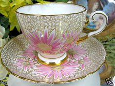 ❤Tuscan Pink Gold Chintz Tea Cup and Saucer❤