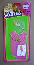 NRFP '80 BARBIE BEST BUY FASHIONS Hot Pink Fan Nite Shirt & Mirror #3635 (D1069)