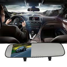 L3000 mirrors car DVR 1080P 2.7 inch parking HD tachograph ultra-wide 140-degree car detector loop car camera recording logger #Affiliate