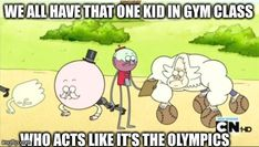 regular show - Buscar con Google~YES! In fact we just did a push-up test in gym. The average kid does about 20, and what does he do? 60!