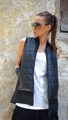 Купить или заказать Жилет Quilted Mix Vest в интернет магазине на Ярмарке Мастеров. С доставкой по России и СНГ. Материалы: болонь, трикотаж, хлопок. Размер: XS-2XL