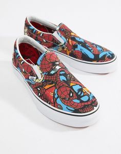 469fe0fc3b1c Vans x Marvel Spiderman Slip On Plimsolls VA38F79H7