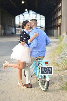 Tutu, bike and the wedding date! Photo by All My Love Photography