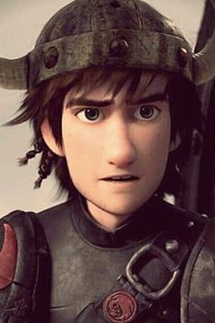 Hiccup wearing a helmet. I do prefer him without the helmet but he looks great this way too. Basically Hiccup just always looks hot. Hehe. :)