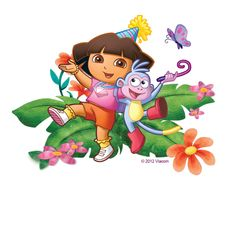 Enter your Text Fourth Birthday, Happy Birthday, Dora Wallpaper, Dora Pictures, Dora Characters, Dora Cartoon, Dora Cake, Dora And Friends, School Painting