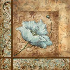 Blue Poppy Collage I