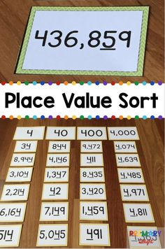 Looking for fun activities for and grade students? Check out these place value sorts. These are wonderful activities for centers or math stations when you are teaching place value. Students use this printable activity to identify the value for num Maths Guidés, Math Classroom, Fun Math, Year 5 Maths, Primary Maths, Classroom Ideas, Place Value Activities, Math Place Value, Math Activities