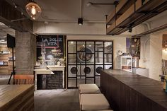 Formo Design Studio have designed Wash Coffee, a charming laundry & coffee shop situated in Taipei City, Taiwan. Laundry Shop, Laundry Art, Coin Laundry, Laundry Design, Laundry Room Storage, Storage Spaces, Storage Ideas, Shop Interior Design, Retail Design