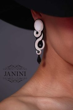 andmade jewelry / handmade earrings / soutache earrings / soutache jewelry / handmade from georgia / JANINIcollection