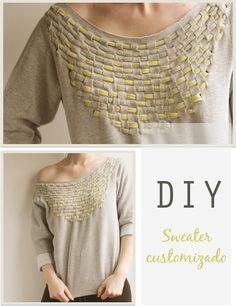 DIY_sweater_customizado_ambiente_vistoriado    http://ambientevistoriado.com/diy-sweater/#