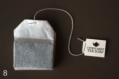 tea soap! add dry tea to the soap as you let it set.