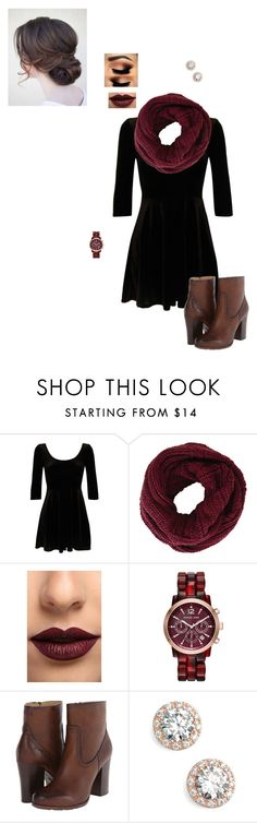 """Untitled #337"" by fearless-dreamer09 ❤ liked on Polyvore featuring BCBGMAXAZRIA, LASplash, Michael Kors, Frye and Nordstrom"