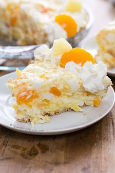 Ambrosia pie is a quick & easy dessert with all of the flavors we love in classic Ambrosia salad. It's the perfect no bake pie for Easter or any time!