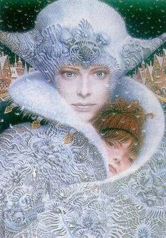 "Illustration by V. Yerko for Hans Christian Anderson's ""The Snow Queen""."