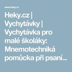 Heky.cz | Vychytávky | Vychytávka pro malé školáky: Mnemotechniká pomůcka při psaní písmen R a Z - Heky.cz | Vychytávky Poem