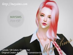 Hair 43F (Alesso) at May Sims via Sims 4 Updates