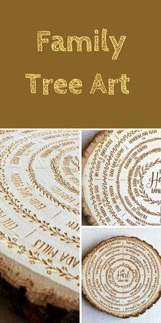 Family Tree Wood Sign Art Genealogy Chart Ancestry Burning Personalized Anniversary Gift Custom Wedding Ad