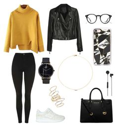 """""""polyvore"""" by jesy-smith on Polyvore featuring mode, Topshop, Asics, Paige Denim, MICHAEL Michael Kors, Ray-Ban, CLUSE, Sole Society, BP. et Casetify"""