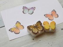【再販】蝶の多色押し 消しゴムはんこ