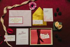 Berry wedding invitation suite | Milou + Olin Photography | see more on:  http://burnettsboards.com/2015/05/dark-garden-styled-shoot/