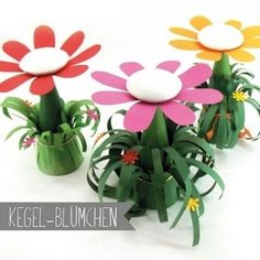 Kegel-Blume Kegel, Paper, Plants, Material, Kids, Home Made, Summer, Young Children, Boys