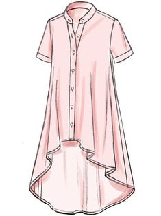 Buy Vogue Easy Options Women's Top Sewing Pattern, L-XL from our Sewing Patterns range at John Lewis & Partners. Dress Design Sketches, Fashion Design Sketches, Casual Outfits, Fashion Outfits, Vogue Sewing Patterns, Pattern Fashion, Dress Patterns, Short Sleeve Dresses, Clothes