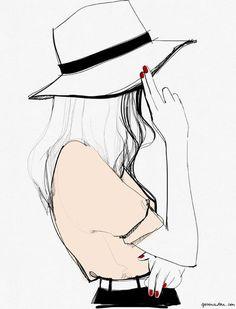 Image de drawing, girl, and art