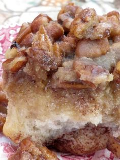 Cinnamon Pecan Rolls - the rolls are soft,chewy with a delicious cinnamon filling and a buttery caramel pecan syrup.