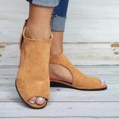7635d6c3381 Women Plus Size Wedges Ankle Strap Peep Toe Wedge Sandals – shecici