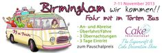 Komplettpaket zur Cake International in Birmingham vom 07.11 - 11.11