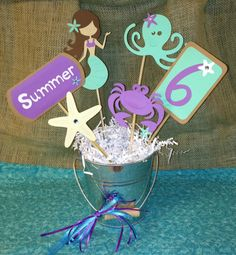 Sea Splash Centerpiece Accent Sticks, Under the Sea Centerpieces