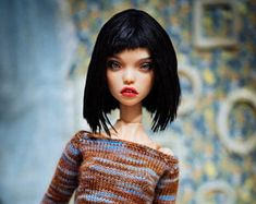 Knitted sweater for Popovy sisters doll  BJD author doll 1/4