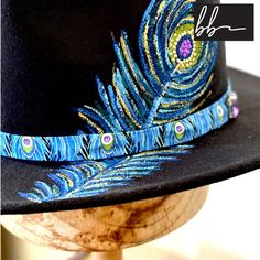 Hand painted and beaded Panama black felt hat with a peacock   Etsy outfit hat hat outfit cute caps cute hats cute hat outfits hat fall hat cute summer hats hat fashion hair hats hat ideas hat summer cute hats baseball decorating hats cute hats for summer hat style hats and scarfs summer hats fashion hats