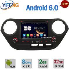 "7"" 2GB RAM 32GB ROM Octa Core Android 6.0 DAB WIFI 3G/4G BT Car DVD Player Radio GPS For Hyundai I10 Left Hand Driving 2014-2017"