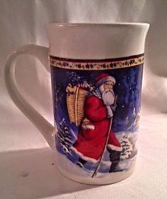 Collectible  Christmas Holiday Mug Cup by Royal Norfolk Ceramic 5x3inch