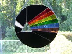 Pink Floyd Dark Side of the Moon Stained Glass. $40.00, via Etsy.