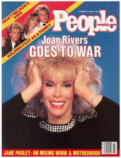 People magazine, October 1986 — Joan Rivers Goes to War (late-nite TV showdown with Johnny Carson) Here's Johnny, Johnny Carson, Jane Pauley, Queens Of Comedy, Vince Vaughn, Newspaper Cover, Big Battle, Joan Rivers, People Magazine