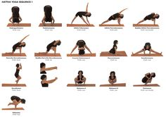 Yoga Poses (Asana) Hattha Sequence 1