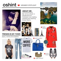 """""""Member Spotlight: Oshint"""" by polyvore ❤ liked on Polyvore featuring Dot & Bo, Forever 21, Current/Elliott, Sophia Webster, Topshop, Marc Jacobs, Marc by Marc Jacobs, Alice + Olivia, Isabel Marant and Yves Saint Laurent"""