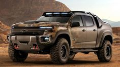 Though designed for Army testing, we think Chevy could sell a bevy of Colorados in military camo and cladding like this.