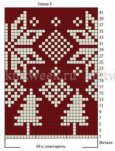 Красный жаккардовый комплект - Схема 3