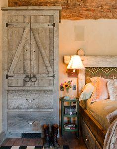 rustic furniture in the bedroom