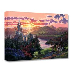 The sun sets on the Beast's castle and the spectacular landscape created by Rodel Gonzalez with this limited edition ''The Beauty in Beast's Kingdom'' giclee on canvas.