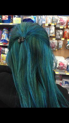 Mermaid Hair Ion Brilliance Brights Semi Permanent Collection Mixing Aqua Shark Blue After