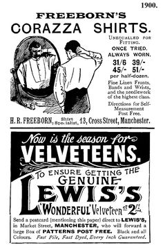 1900. Manchester adverts