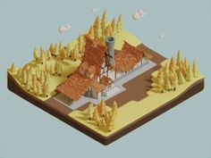 Low poly farm