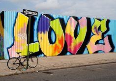 Love, Williamsburg!!! Bebe'!!! Grafitti love!!!